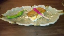 鰆と湧水豆腐味噌焼き はじかみ